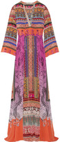 Etro Printed Silk-crepe Maxi Dress - Pink