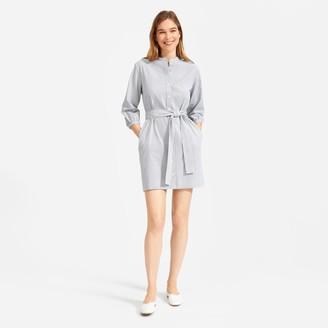 Everlane The Cotton Weave Collarless Shirtdress