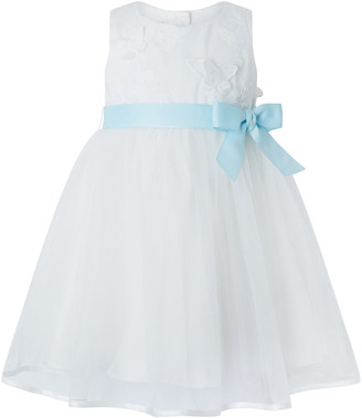 Monsoon Baby Butterfly Mesh Occasion Dress Ivory