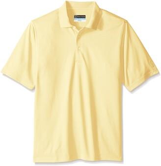 PGA TOUR Men's Big-Tall Golf Airflux Solid Short Sleeve Polo Shirt
