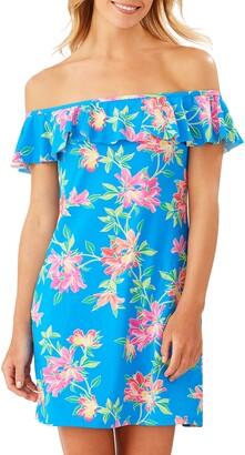 Tommy Bahama Sun Lilies Off the Shoulder Ruffle Spa Dress