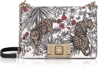 Furla Jungle Printed Leather Mimi Mini Crossbody Bag