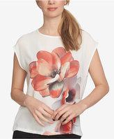 CeCe Floral-Print Sleeveless Blouse