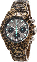 Toy Watch ToyWatch Imprint Reptile-Plasteramic Chronograph Watch, Taupe