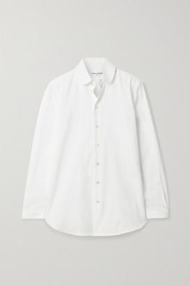 Saint Laurent Ribbed Cotton-poplin Shirt - White