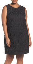 Adrianna Papell Lace Shift Dress (Plus Size)
