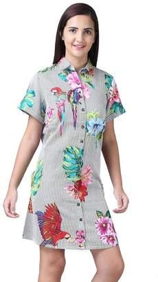 Parsley & Sage Floral Stripe Dress