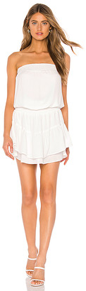 Krisa Smocked Strapless Mini Dress