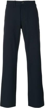 Armani Jeans Straight Leg Logo Plaque Trousers