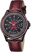 Roberto Cavalli Womens Purple Leather Strap With Black Dial.