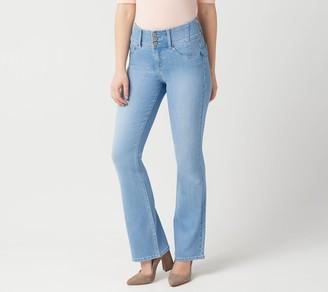 "Laurie Felt Curve Silky Denim Boot-Cut Jeans - ""Light"""