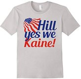 Men's Hill Yes We Kaine Funny Democrat Election Tee Large