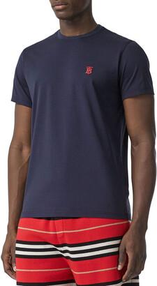 Burberry Men's Parker Logo-Embroidered T-Shirt