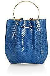 The Row Women's Micro Flat Circle Python Bucket Bag