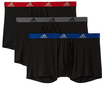 adidas Big Tall Climalite(r) Boxer Brief 3-Pack (Black/Collegiate Royal Black/Scarlet/Black/Onix) Men's Underwear