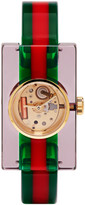 Gucci Red & Green Plexiglass Skeleton Watch