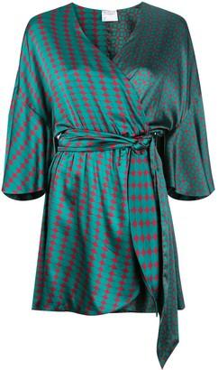 Cynthia Rowley Jacquetta mini wrap dress