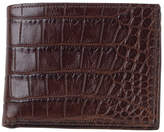 Moore & Giles Slim Alligator Leather Bi-Fold Wallet