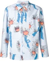 Julien David floral shirt jacket - men - Cotton/Silk - M