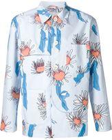 Julien David floral shirt jacket - men - Silk/Cotton - M