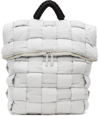Bottega Veneta White The Padded Backpack