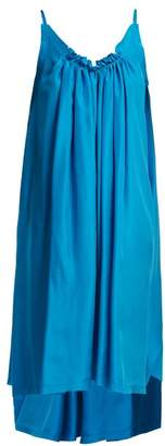 Loup Charmant Gather Shortie Silk Dress - Womens - Blue