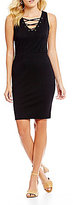 Jessica Simpson Terrie Lace-Up Sheath Dress