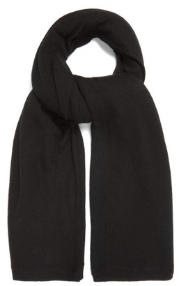 Raey Sheer Knitted Cashmere Scarf - Black