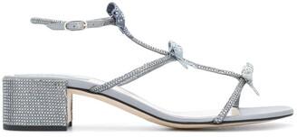 Rene Caovilla Triple Bow Strap Sandals