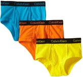Calvin Klein Boy's 3 Pack Navy Blue Red Briefs