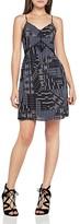 BCBGeneration Quilt Print Slip Dress