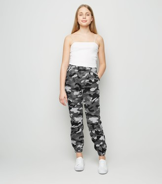 New Look Girls Light Camo Denim Joggers