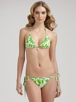Milly Indian Floral Halter Bikini Top