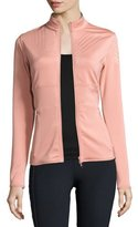 adidas by Stella McCartney Clima Mid-Layer Front-Zip Jacket, Plaster Pink