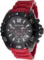 Michael Kors Men's MK8212 Red Silicone Quartz Watch with Dial