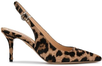 Charlotte Olympia Pointed Leopard Print Pumps