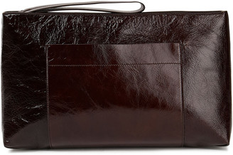 Joseph Westbourne Crinkled-leather Clutch