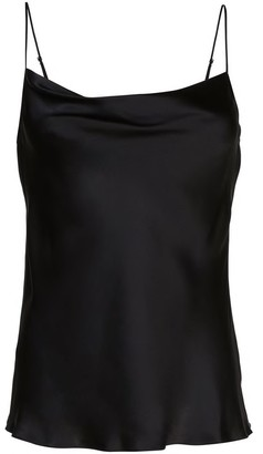 Nili Lotan Gemma Sleeveless Cowl Neck Silk Camisole Tank