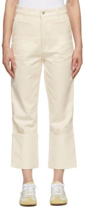 Loewe Off-White Fisherman Jeans