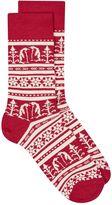 Topman Red Christmas Penguin Fair Isle Socks