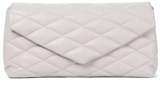 Saint Laurent Sade Puffer quilted leather clutch