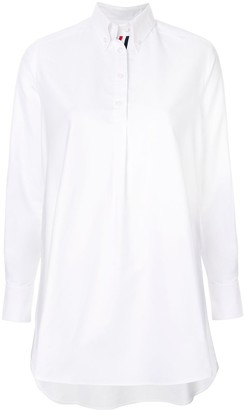 Thom Browne Logo-Patch Flared Shirt
