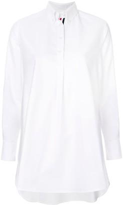 Thom Browne asymmetric flared shirt