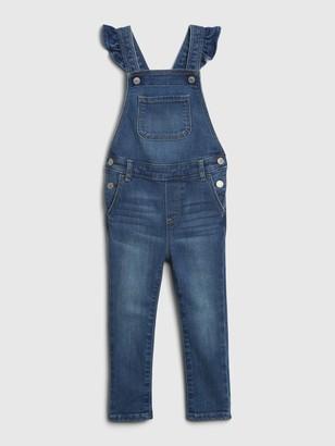 Gap Toddler Denim Ruffle Skinny Overalls