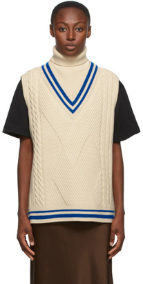 Ader Error Off-White Oversized Knit Sleeveless Turtleneck
