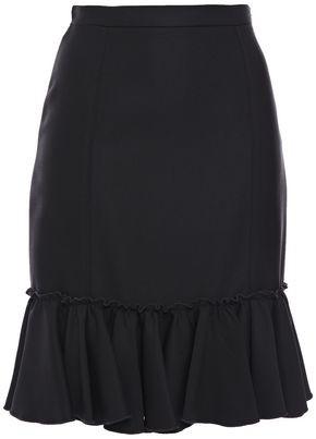 Giambattista Valli Ruffled Crepe Mini Skirt
