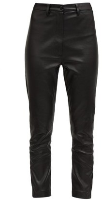 Ann Demeulemeester Mid-rise Skinny Leather Trousers - Black