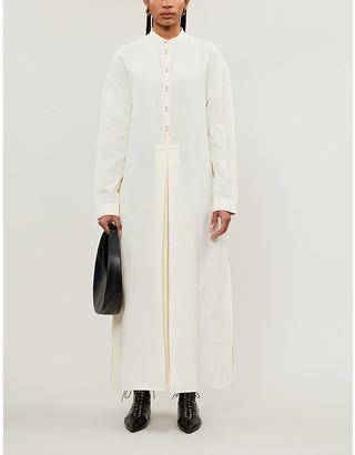 Jil Sander Marina pleated woven maxi dress