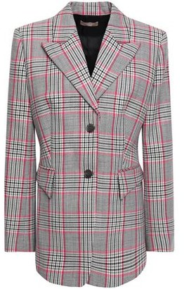 Michael Kors Plaid Wool Blazer