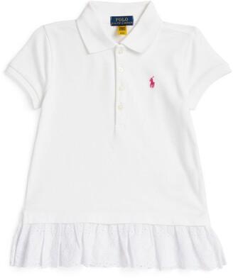 Ralph Lauren Kids Broderie Anglaise Polo Shirt (2-4 Years)